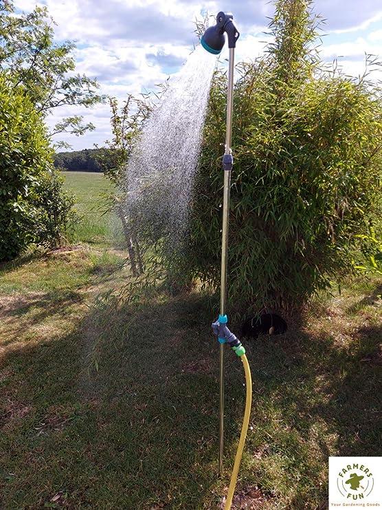 FARMERS FUN - Ducha de jardín con estaca: Amazon.es: Jardín