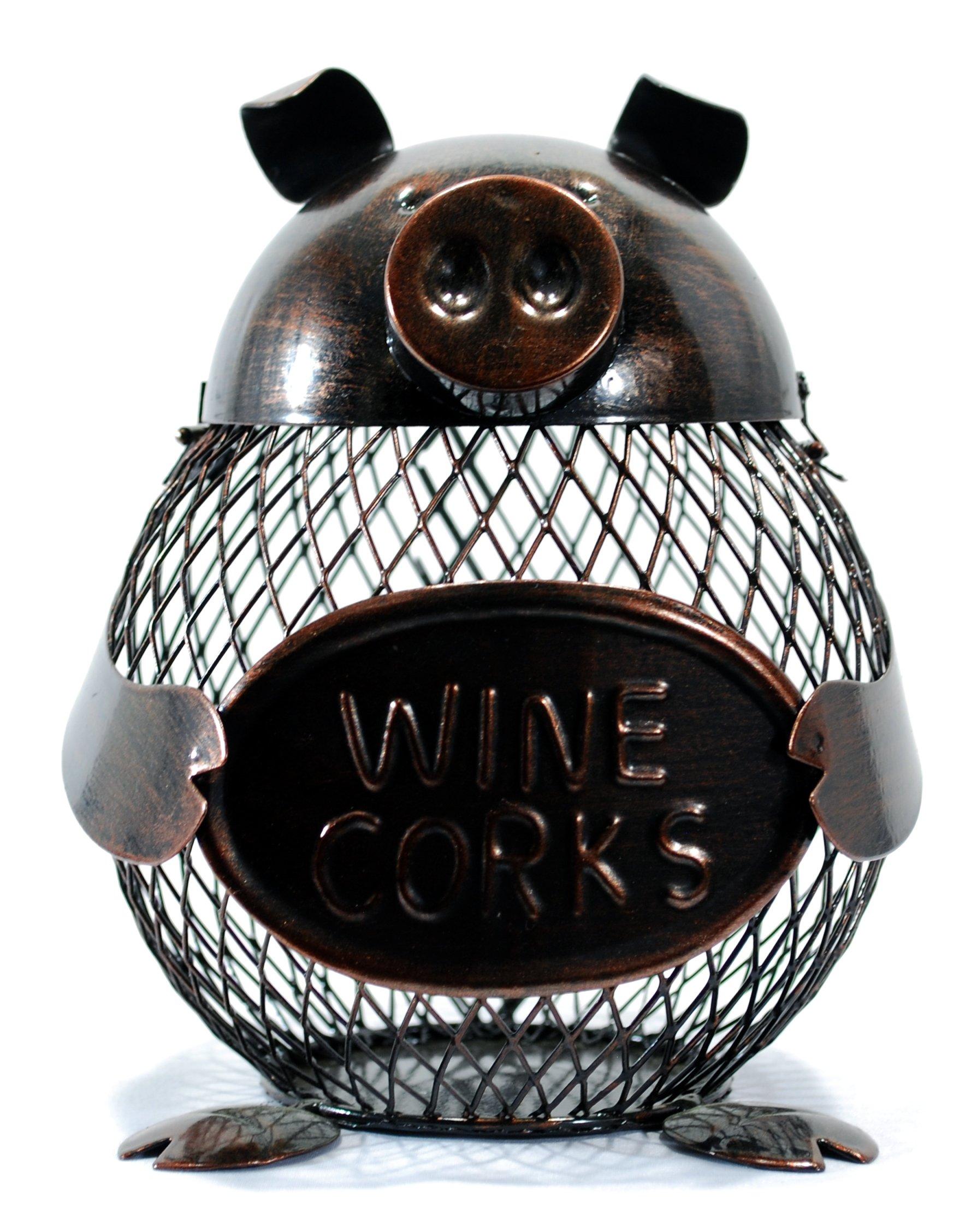 Metal Pig Wine Cork Holder