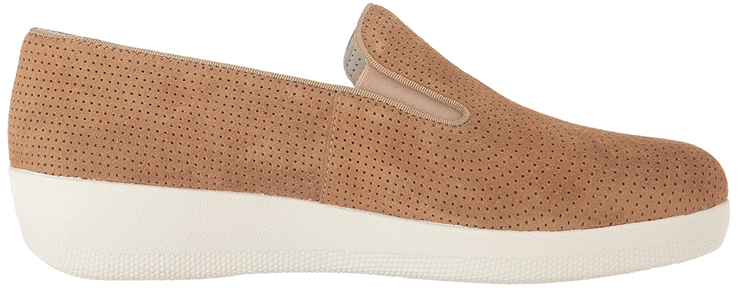 713300e5f21813 FitflopTM Superskate Perforated Womens Casual Slip On Shoes 3 Soft Brown  Suede  Amazon.co.uk  Shoes   Bags
