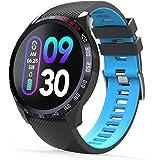 novasmart - runR IV smartwatch, Fitnesstracker, aktivitetsspårare, smart band med färgdisplay, puls- och…