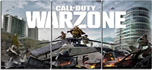 Call of Duty: Warzone Game Canvas Posters Home Decor Wall Art Framework 3 Pieces Paintings for Living Room HD Prints Pictures (M,No Framed)