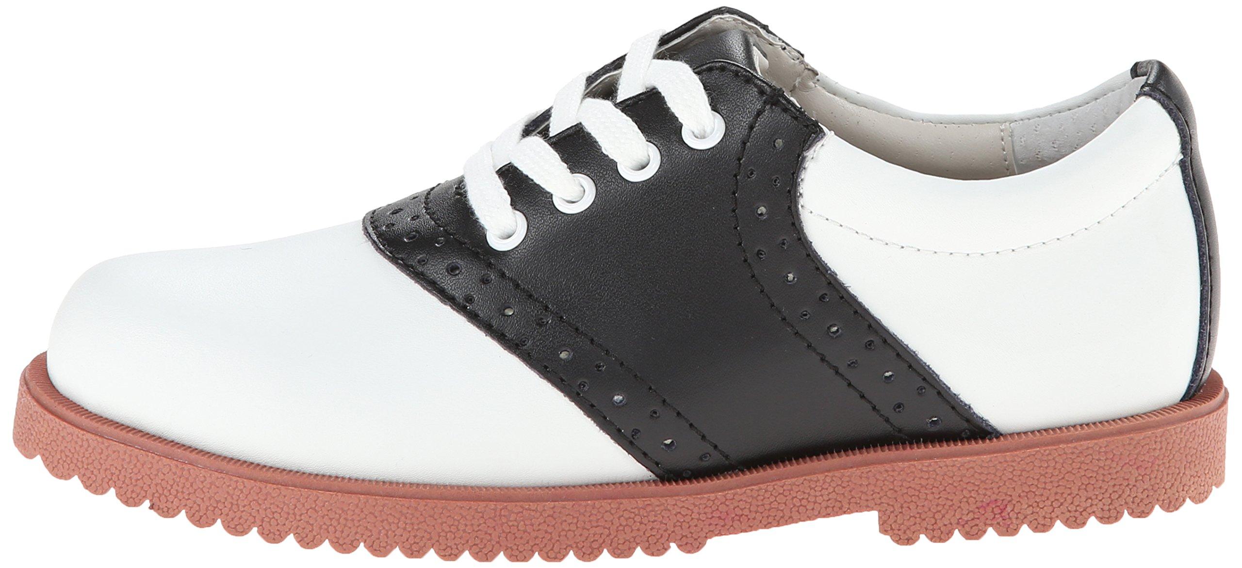 Academie Gear Honor Roll Saddle Shoe (Toddler/Little Kid/Big Kid),White/Black,4 W US Big Kid by Academie Gear (Image #5)