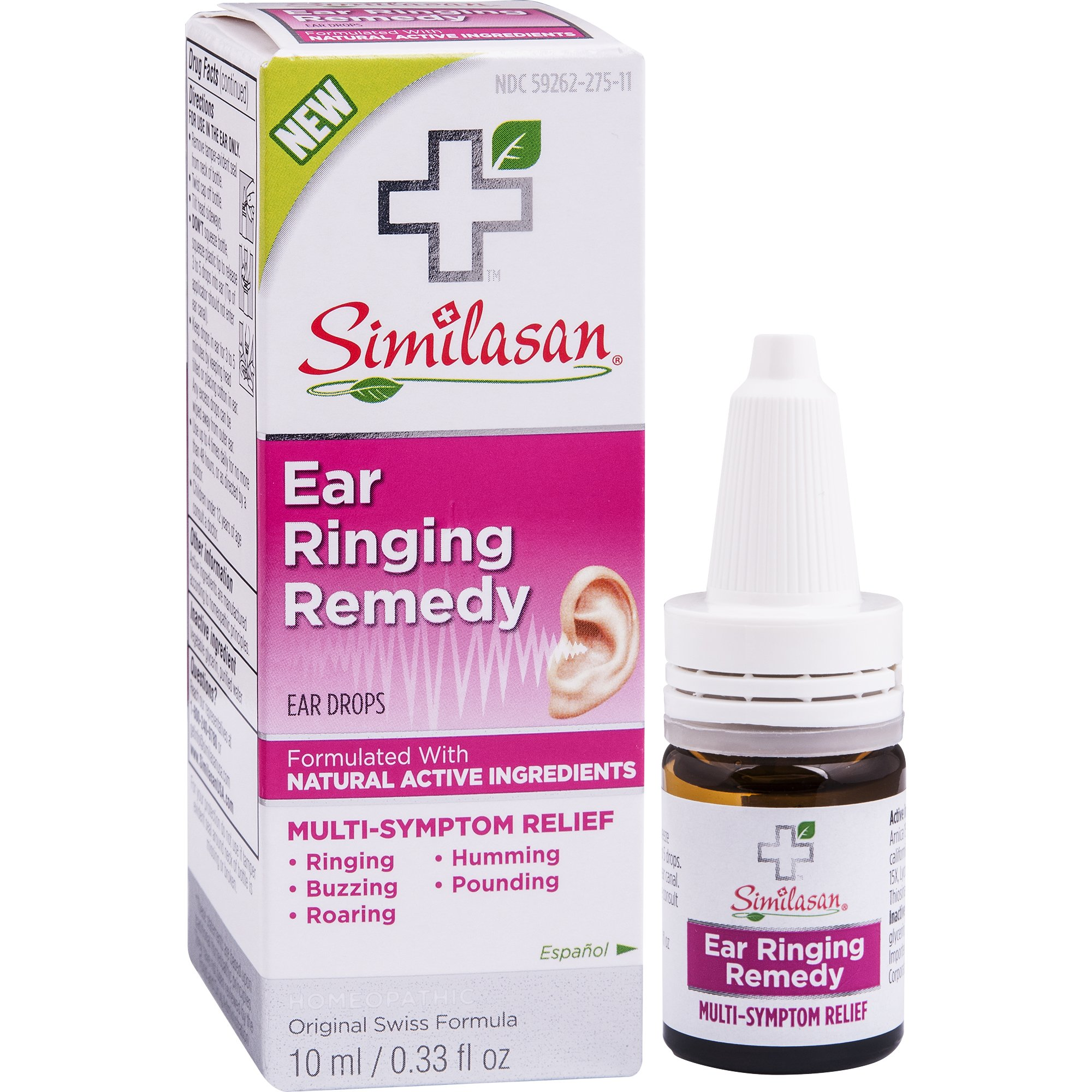 Similasan Ear Ringing Remedy Drops 0.33 Ounce, for Temporary Multi-Symptom Relief from Noise in The Ears, Ringing Ears, Buzzing Ears, Roaring Ears, Humming Ears, and Other Sounds in The Ears