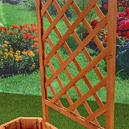 Rose arco/enrejado con macetero 86 cm × 38 cm x 150 cm (B X L X H): Amazon.es: Jardín