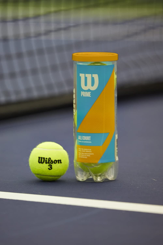 Wilson Prime All Court Tennis Ball - 3 Ball Can : Sports & Outdoors
