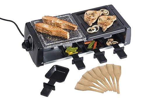Cuisinier 38708 - Parrilla eléctrica, 1200 W, color negro: Amazon ...