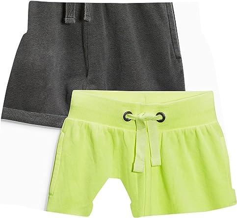 next Niños Pack De Dos Pantalones Cortos (3 Meses - 6 Años) Corte Estándar Amarillo flúor/Gris 5-6 años: Amazon.es: Ropa y accesorios