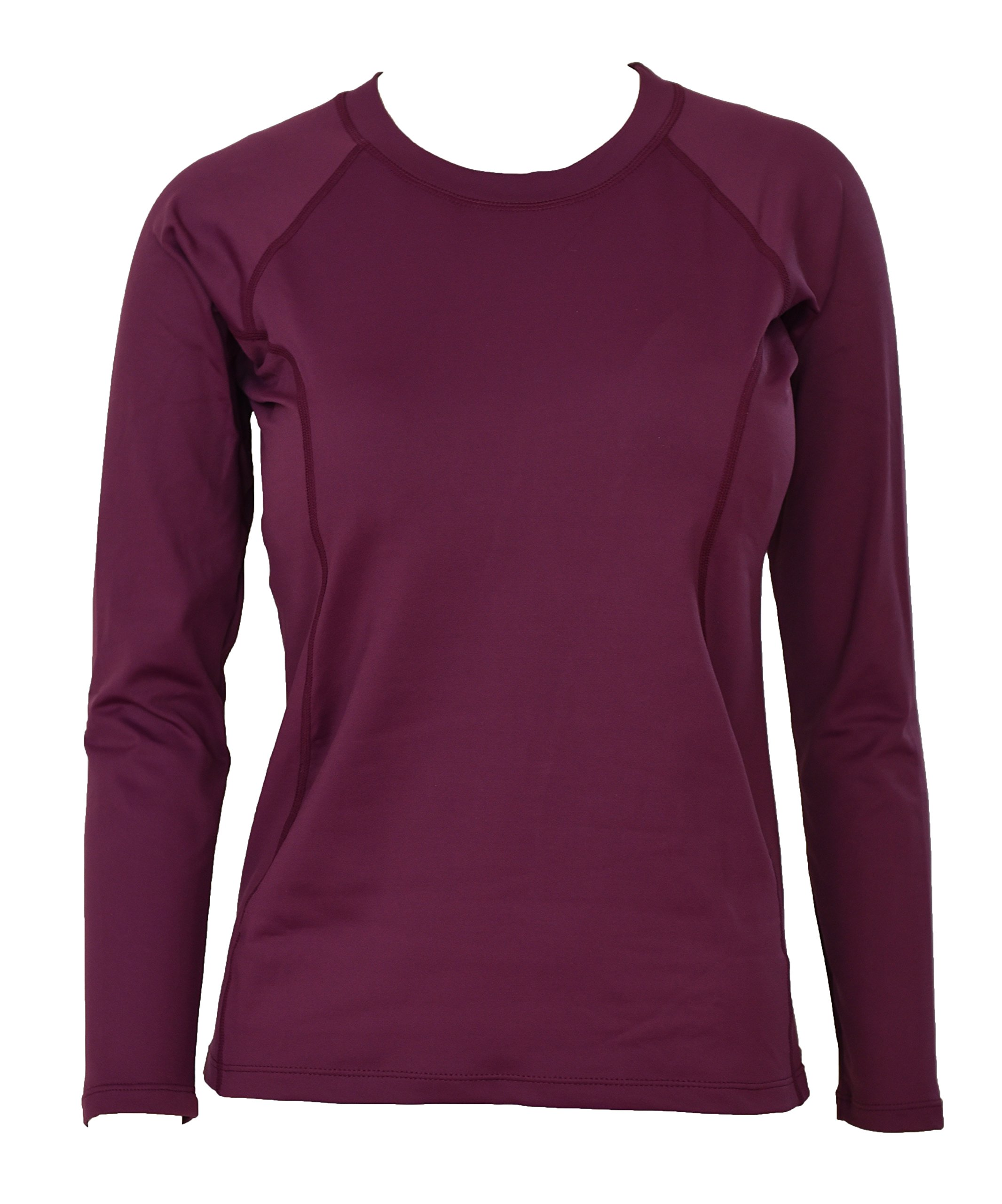Private Island Hawaii UV Women Rash Guard Swim Long Sleeve Yoga Active Workout (XL, DW-RGT) Dark Wine by Private Island