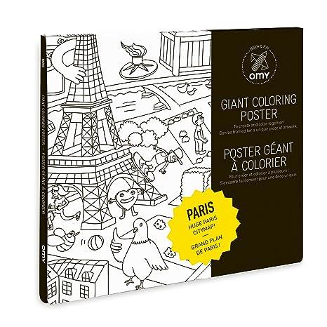 O\'my Póster Gigante para Colorear (Paris: Amazon.es: Hogar