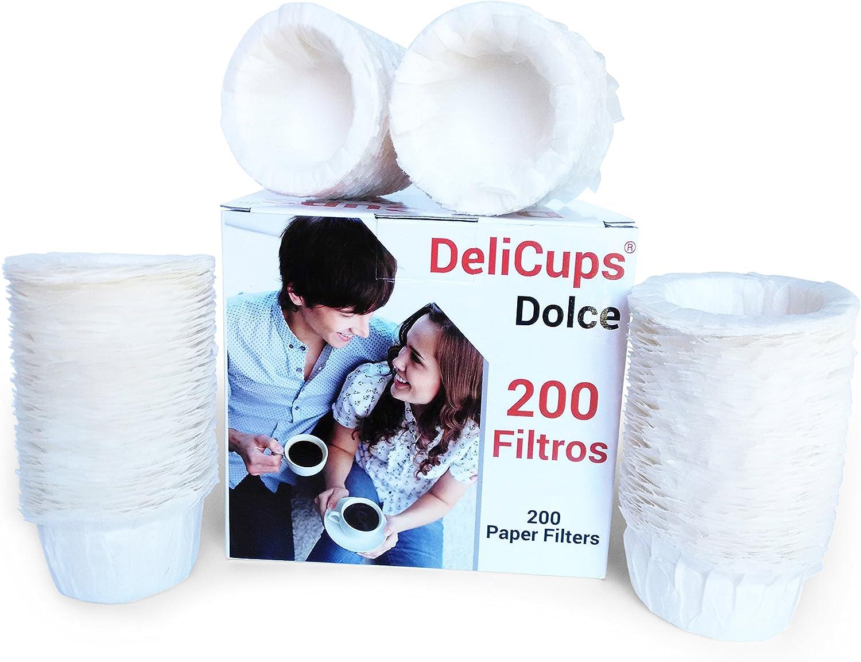 DeliCups - 200 filtros para cápsulas reutilizables DeliCups para cafeteras Dolce Gusto (200): Amazon.es: Hogar