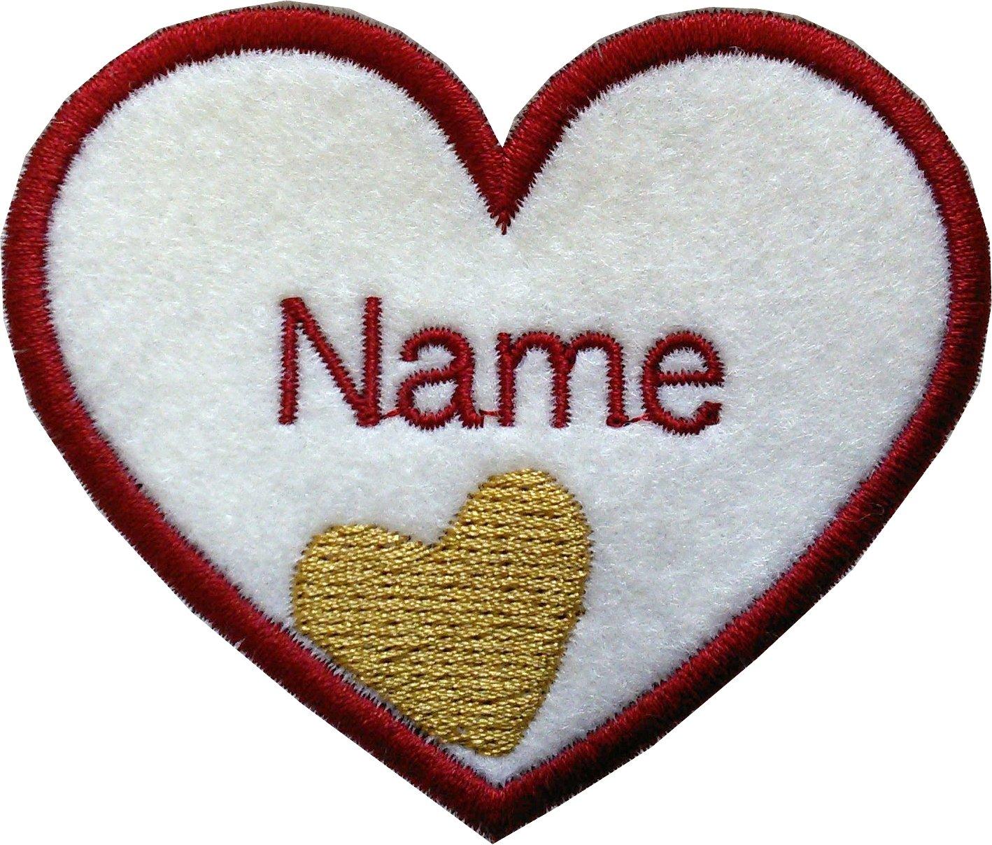 Parche con diseño de corazones bordados para coser o planchar ...