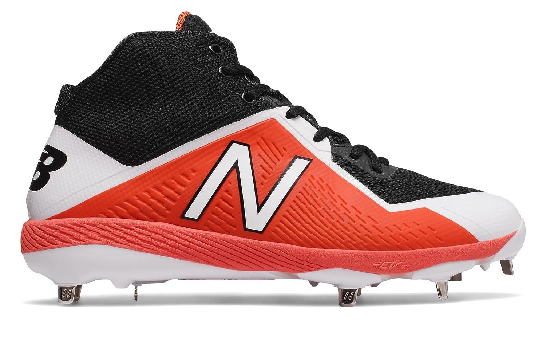 (ニューバランス) New Balance 靴シューズ メンズ野球 Mid-Cut 4040v4 Black with Orange ブラック オレンジ US 7.5 (25.5cm) B074B4F8X5
