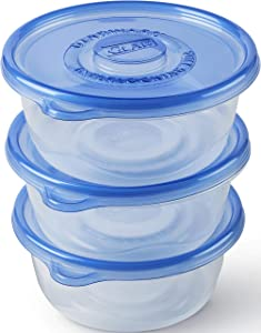 Glad Large Round Bowl Food Storage Containers, 3 Count (Pack of 1), Standard