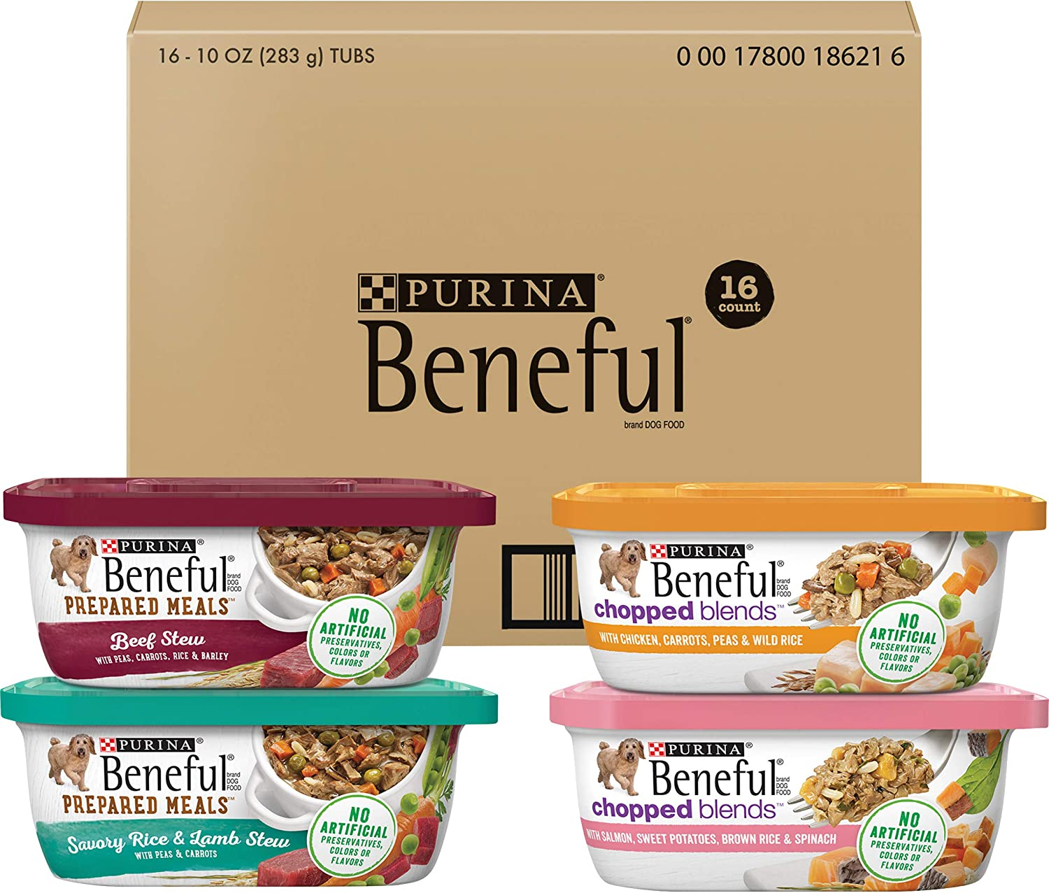 Purina Beneful Prepared Meals Adult Wet Dog Food Variety Pack