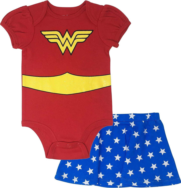 Wonder Woman Infant Baby Girls Costume Bodysuit /& Skirt Outfit Clothing Set