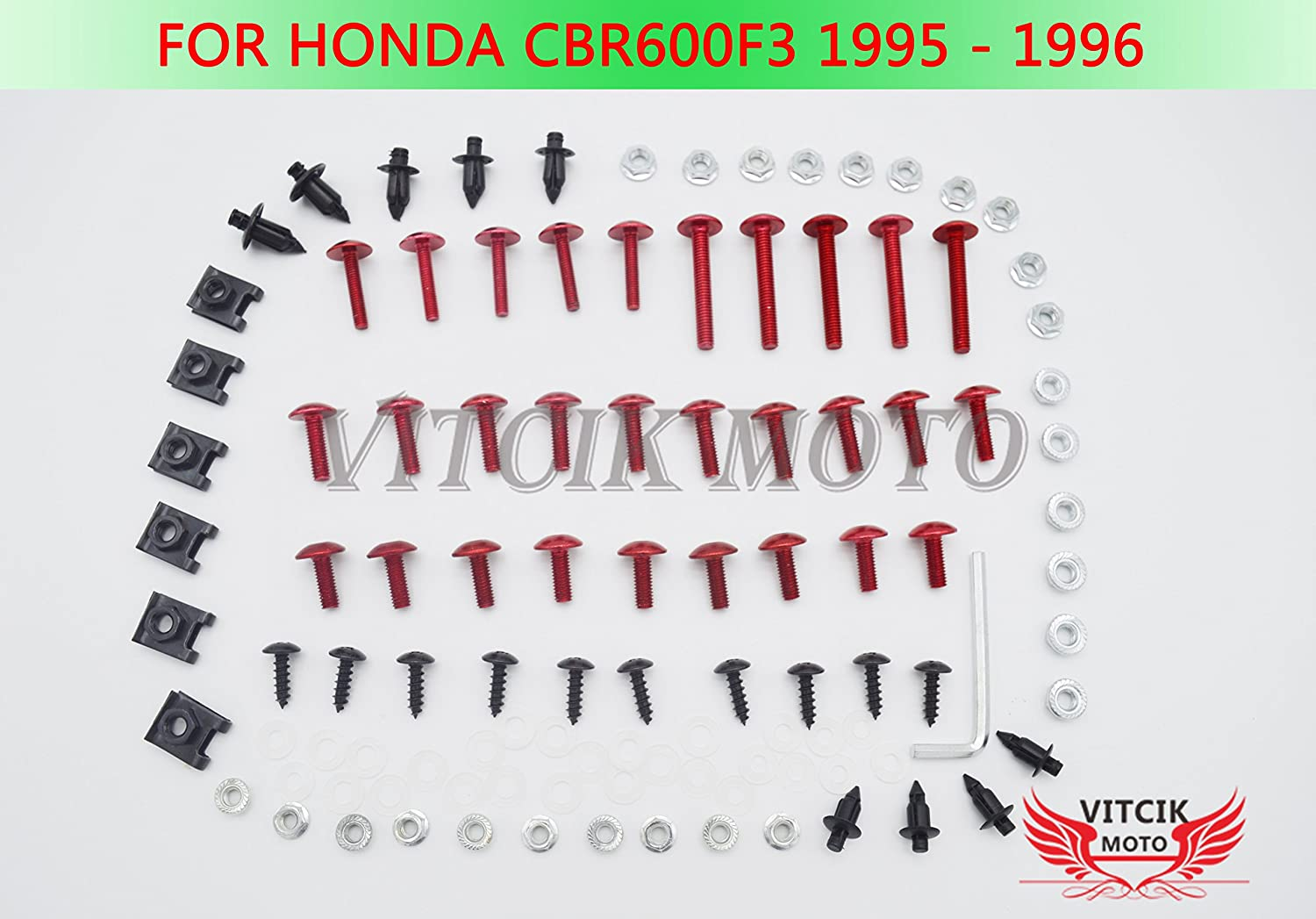 GHMotor 1993 1994 1995 1996 1997 1998 1999 2000 2001 2002 2003 DUCATI 748 916 996 998 BOLTS and WASHERS Fairing Bolts Fasteners Screws Kit Set MADE IN USA All Black