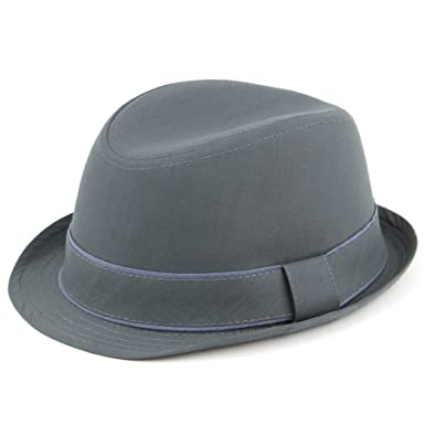 ce6edee34fd363 Hawkins cotton trilby hat with two tone band: Amazon.co.uk: Clothing