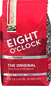 Eight O'Clock Whole Bean Coffee, The Original, 24 Ounce
