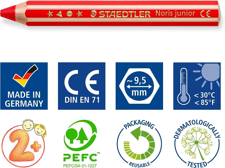 6 St/ück Noris Junior 140-5 3-in-1 Farbstift gr/ün