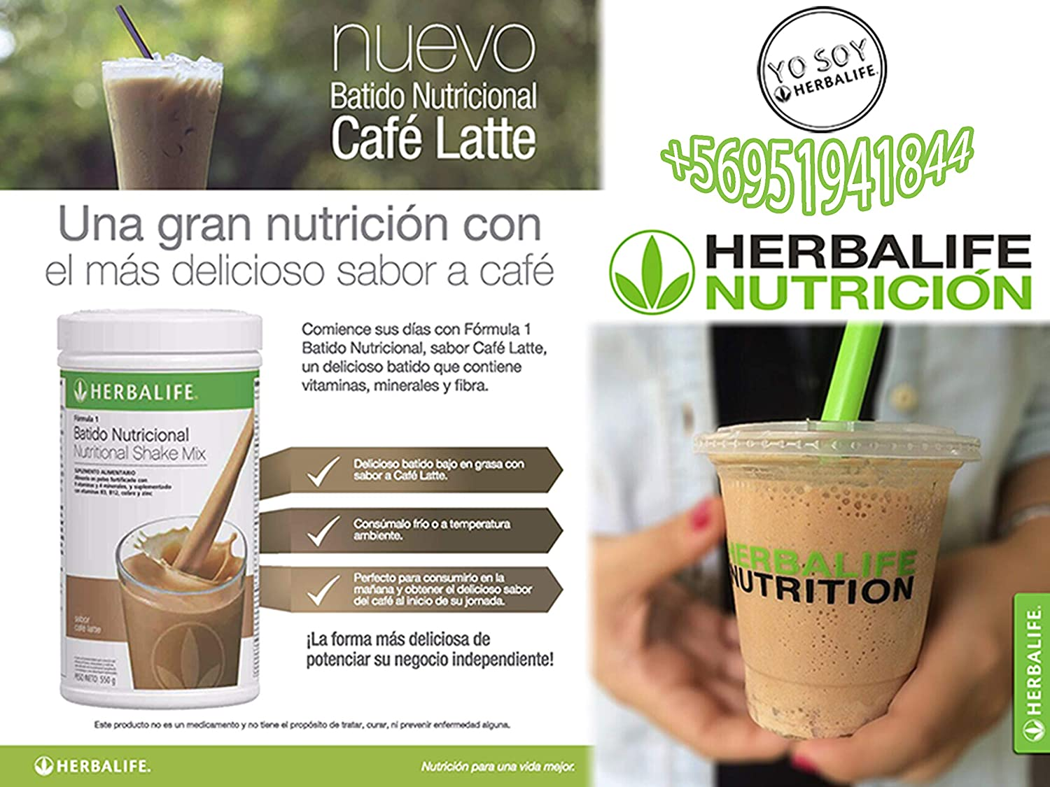 Amazon.com: Herbalife Formula 1 Healthy Meal Nutritional Shake Mix: Café Latte 780 g: Health & Personal Care