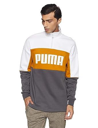 Puma Herren Sweatshirt Retro Crew Turtle Neck Rib Neck