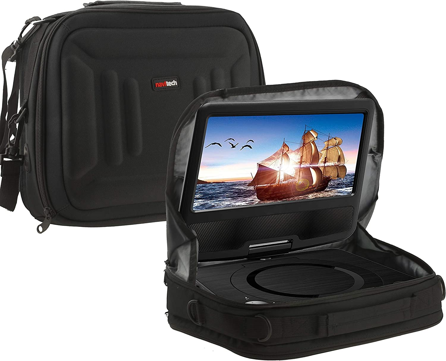 """Navitech Portable DVD Player Headrest Car Mount/Carry Case Compatible with The Rainbowday 11.5"""""""