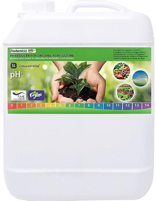 NortemBio Agro Reductor de pH Ecológico 5 L. Uso Universal ...