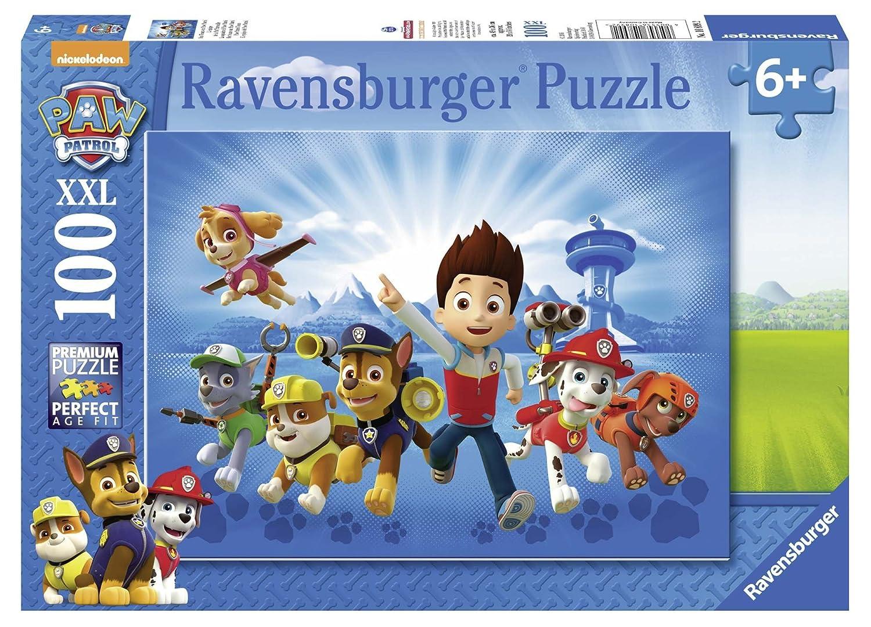 Ravensburger 10899 - Ryder und die Paw Patrol, 100 XXL Teile Puzzle Cartoons & Kinderpuzzles