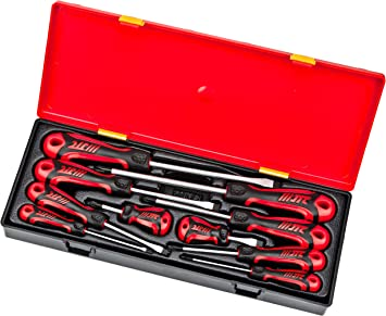 2 pc Phillips//Slotted Demolition Screwdriver Set 115in Drop Forged Steel