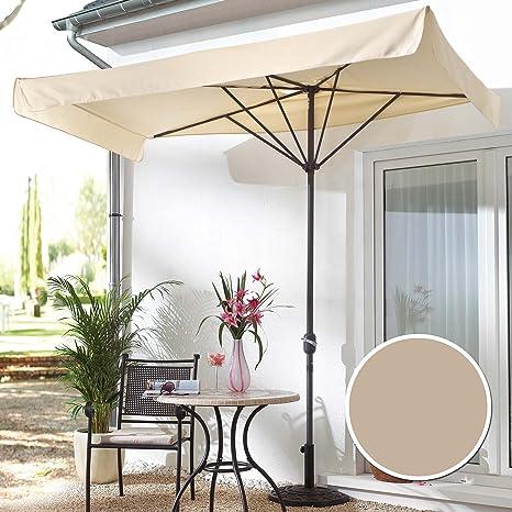 Ombrellone per il balcone o il terrazzo, rettangolare, beige: Amazon ...
