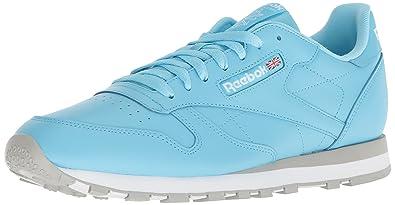 b011f698c3 Reebok Men's Classic Leather Walking Shoe, digi-Digital Blue/White/g, 5.5 M  US