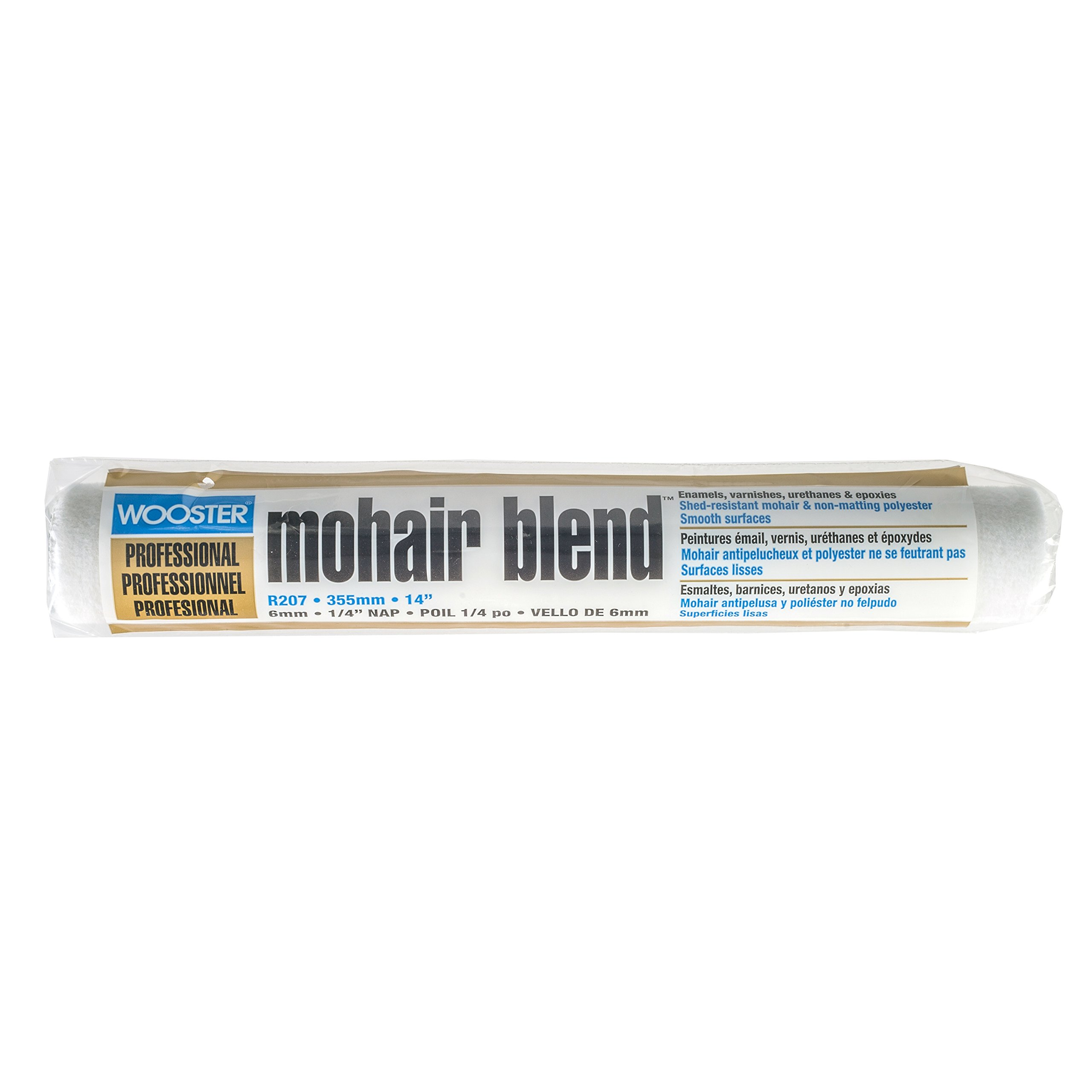 Wooster Brush R207-14 Mohair Blend Roller Cover 1/4-Inch Nap, 14-Inch by Wooster Brush
