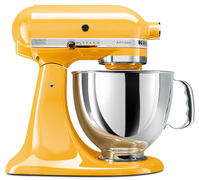 KitchenAid ksm150psbfアーティザン5-quartスタンドミキサー、バターカップ   B001AZU51S