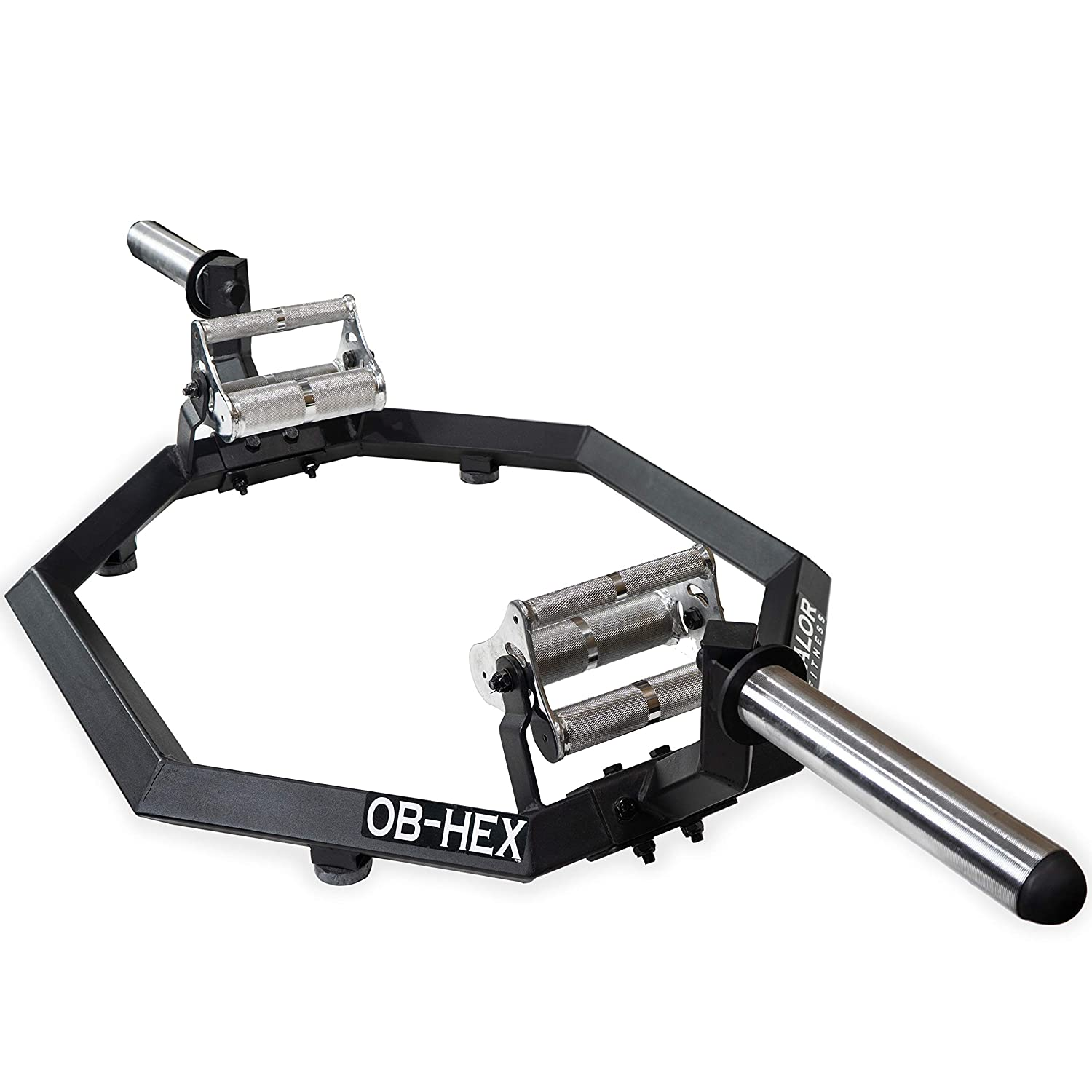 Valor Fitness OB-HEX Hex Trap Bars with Multiple Grip Options for Shrugs, Deadlifts, and Squats – Builds Muscular Shoulders, Back, and Legs