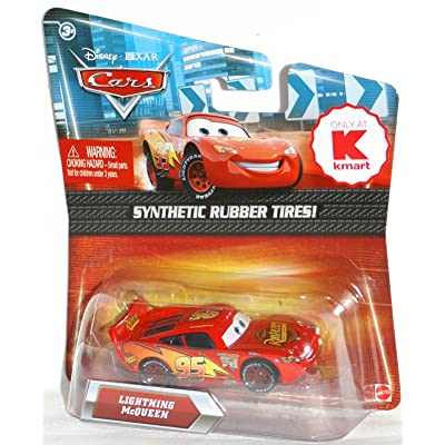 Disney / Pixar CARS Movie Exclusive 155 Die Cast Car with Synthetic Rubber Tires Lightning McQueen Rusteze version: Toys & Games