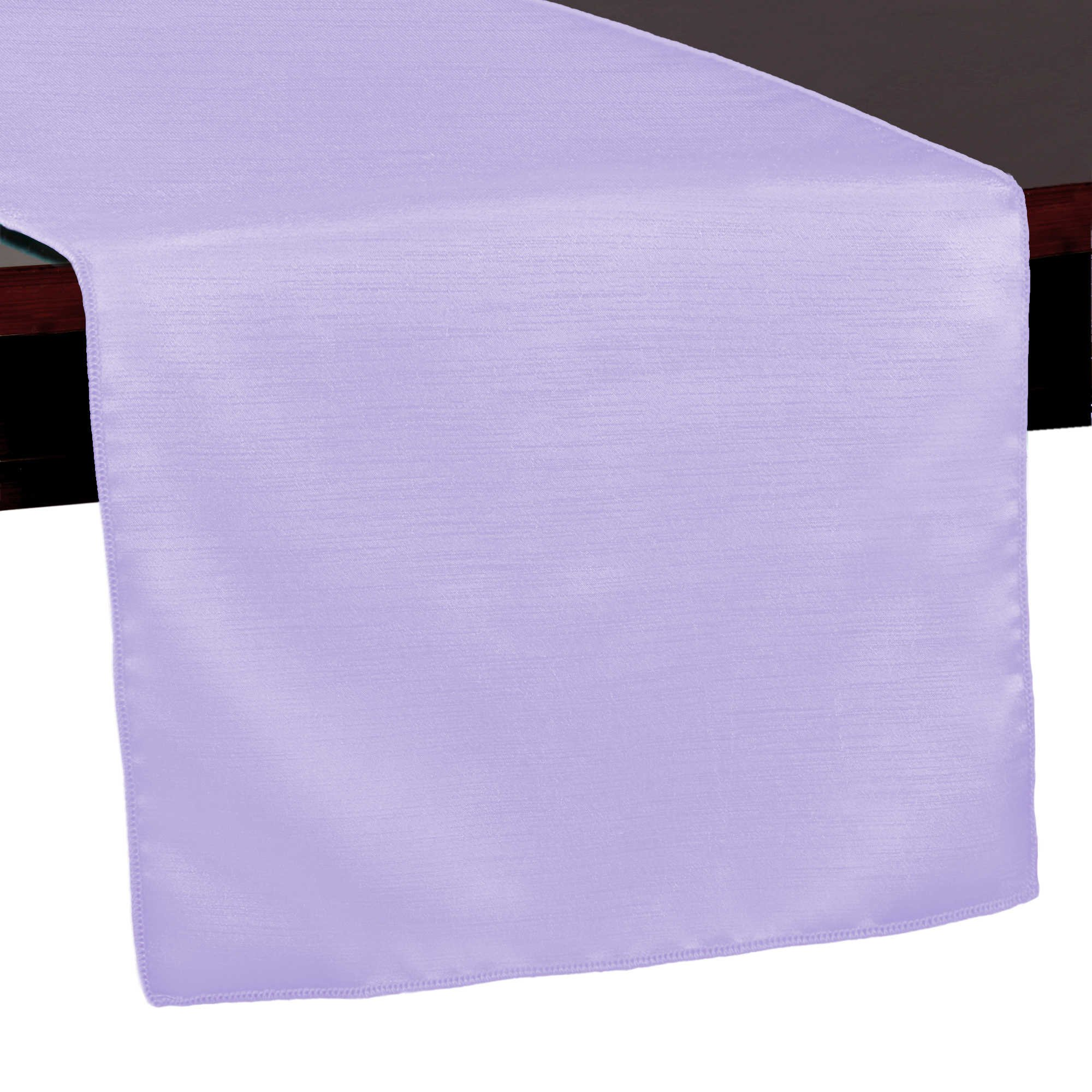 Ultimate Textile (10 Pack) Reversible Shantung Satin - Majestic 14 x 108-Inch Table Runner - for Weddings, Home Parties and Special Event use, Lilac