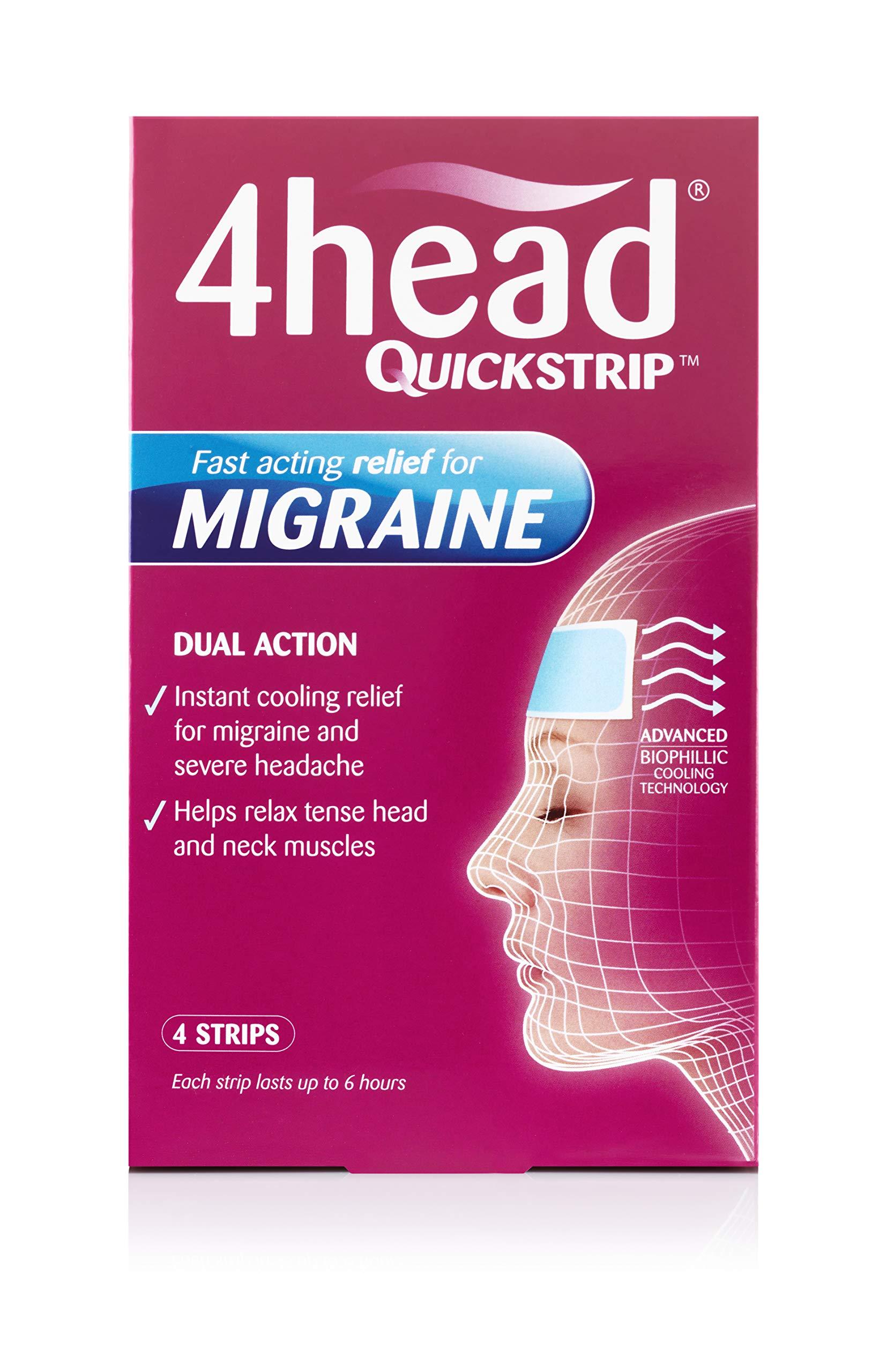 4HEAD Quickstrip Hydro Gel Strips , 4 count