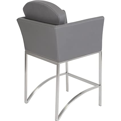 Awesome Enzo Grey Stationary Counter Height Stool Amazon Ca Home Caraccident5 Cool Chair Designs And Ideas Caraccident5Info