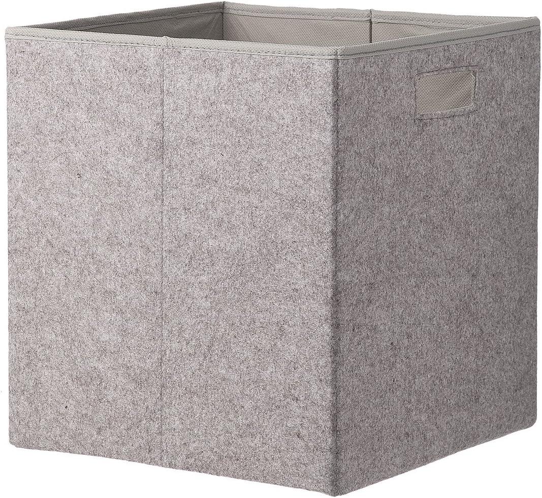 HEMA Caja de almacenaje 30 x 32 cm Gris: Amazon.es: Hogar