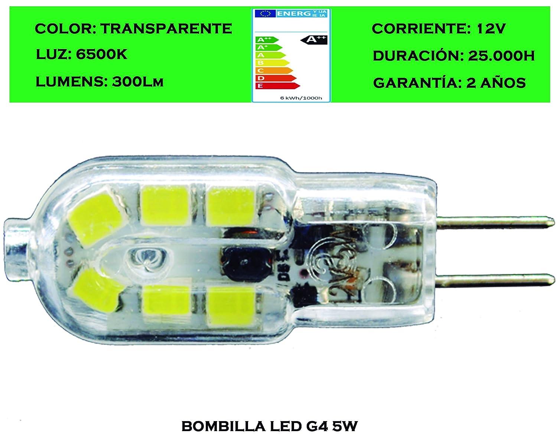 Tubombiled - Bombilla LED G4 5W 12V (El paquete contiene 7 unidades): Amazon.es: Iluminación