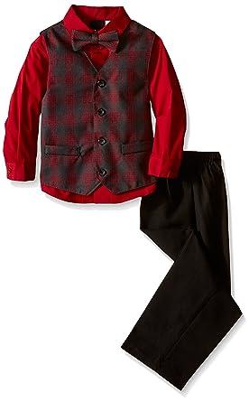 6004c640c6 Van Heusen Little Boys  Heather Deco Plaid Vest Set