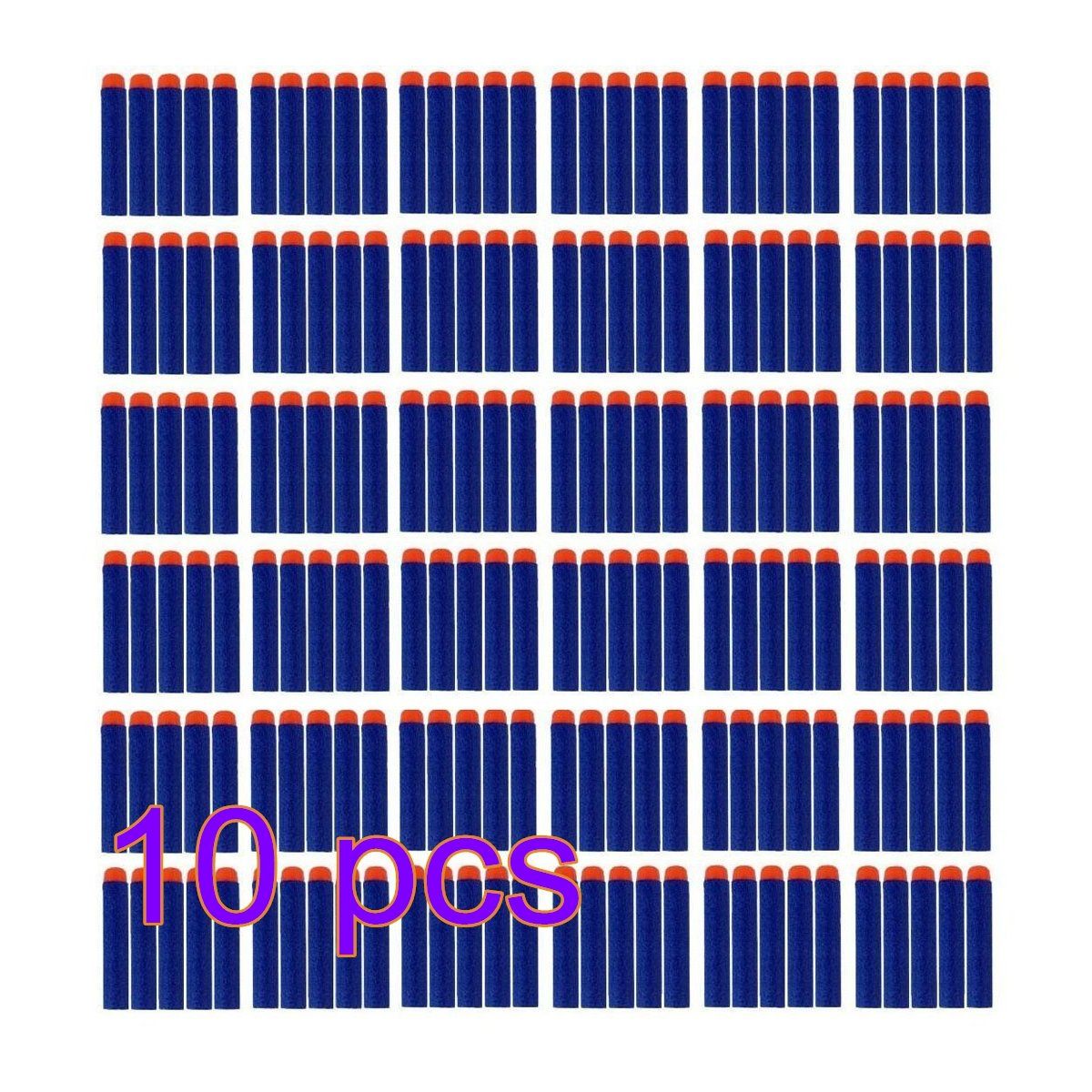 Tb_koop 100 Unids 7.2cm Espuma Obtusion Dardos Recarga Bola Nerf