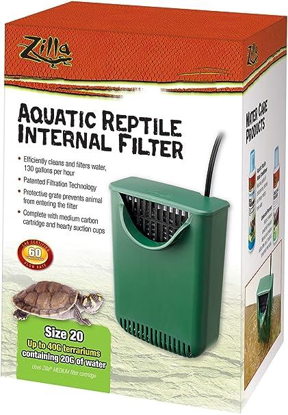 .com: zilla aquatic reptile internal filter - size 20: beauty