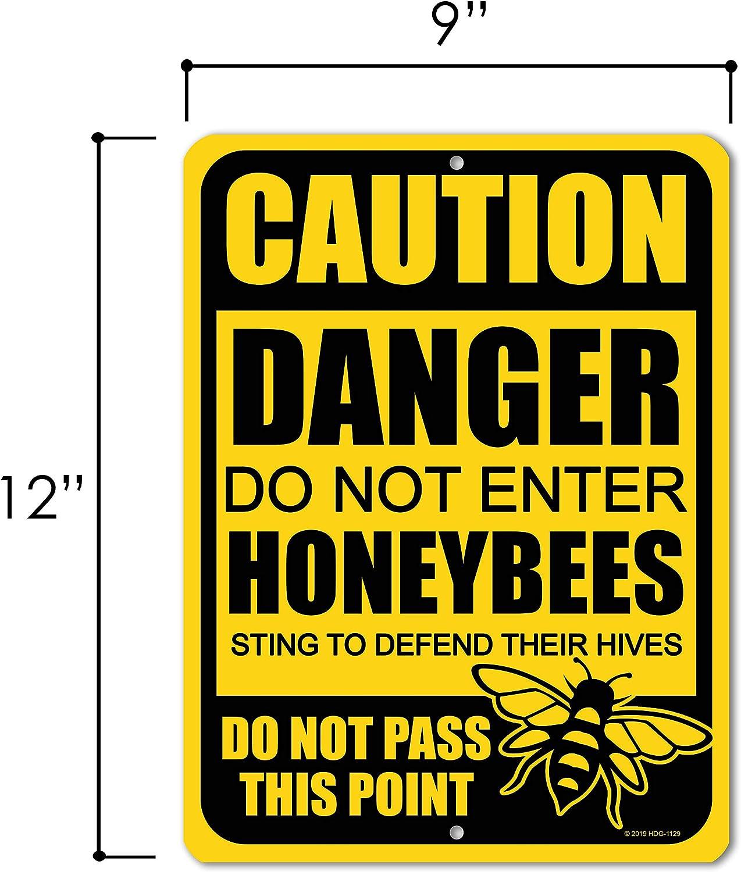 Amazon.com: Letrero de aluminio para abejas de metal con ...
