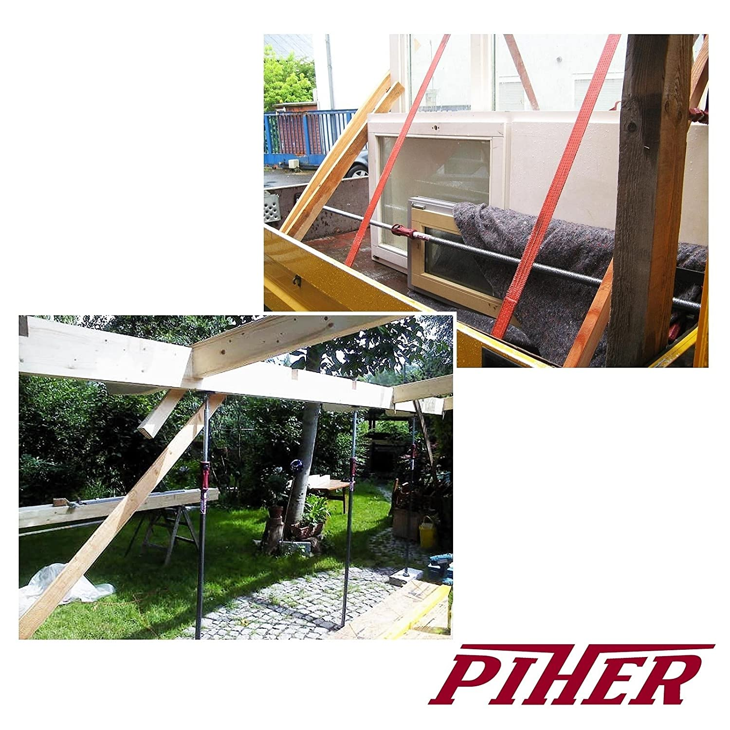 PIHER/® 2/ x Shape Base Load Rod Assembly Supports Ceiling Support Pole 200/ to 375/ cm