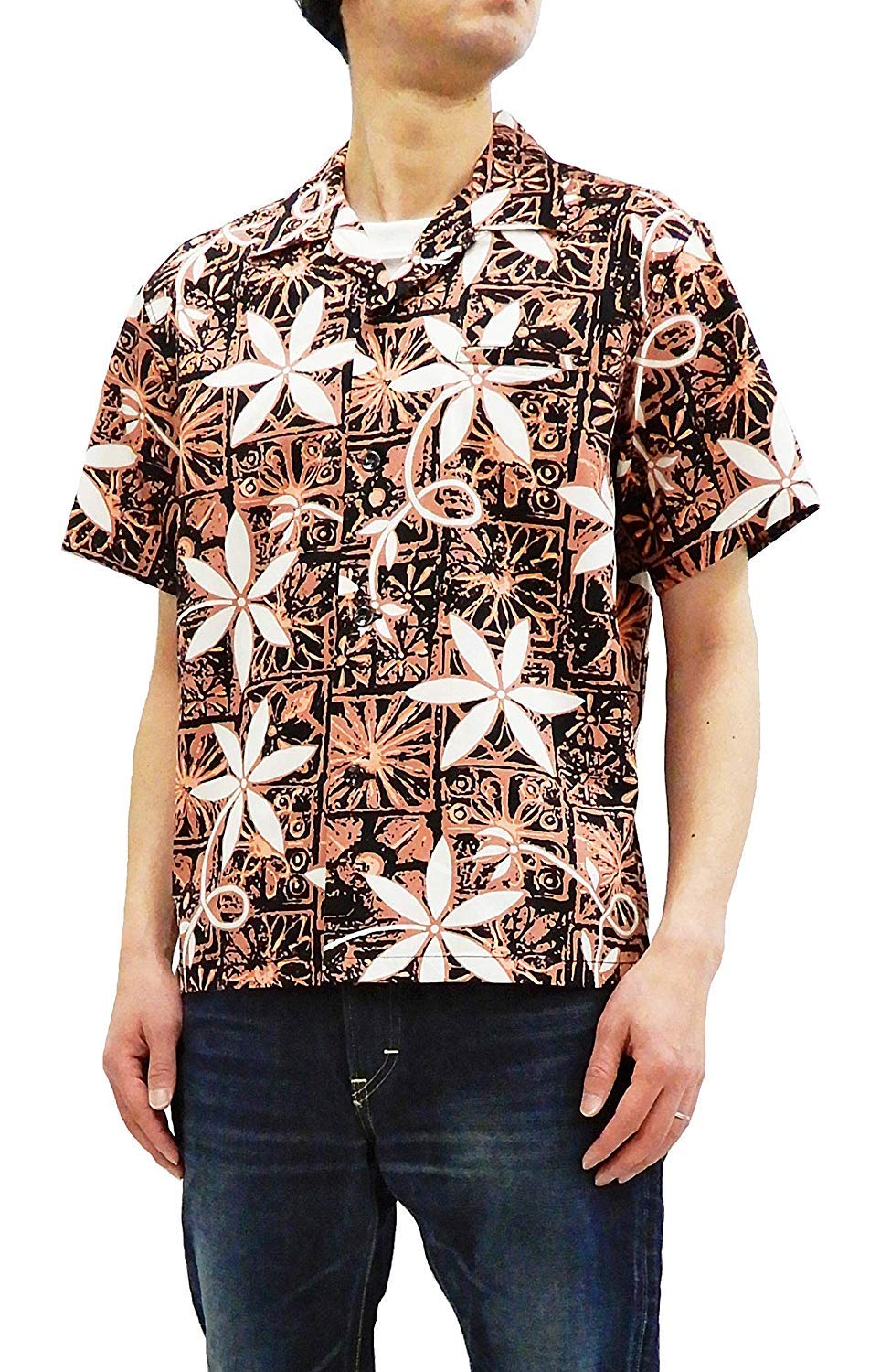 Star of Hollywood Men's Short Sleeve Shirt Elvis Presley Blue Hawaii SH38118 Black Tagged Japan XL (US L-XL) by Star of Hollywood (Image #1)