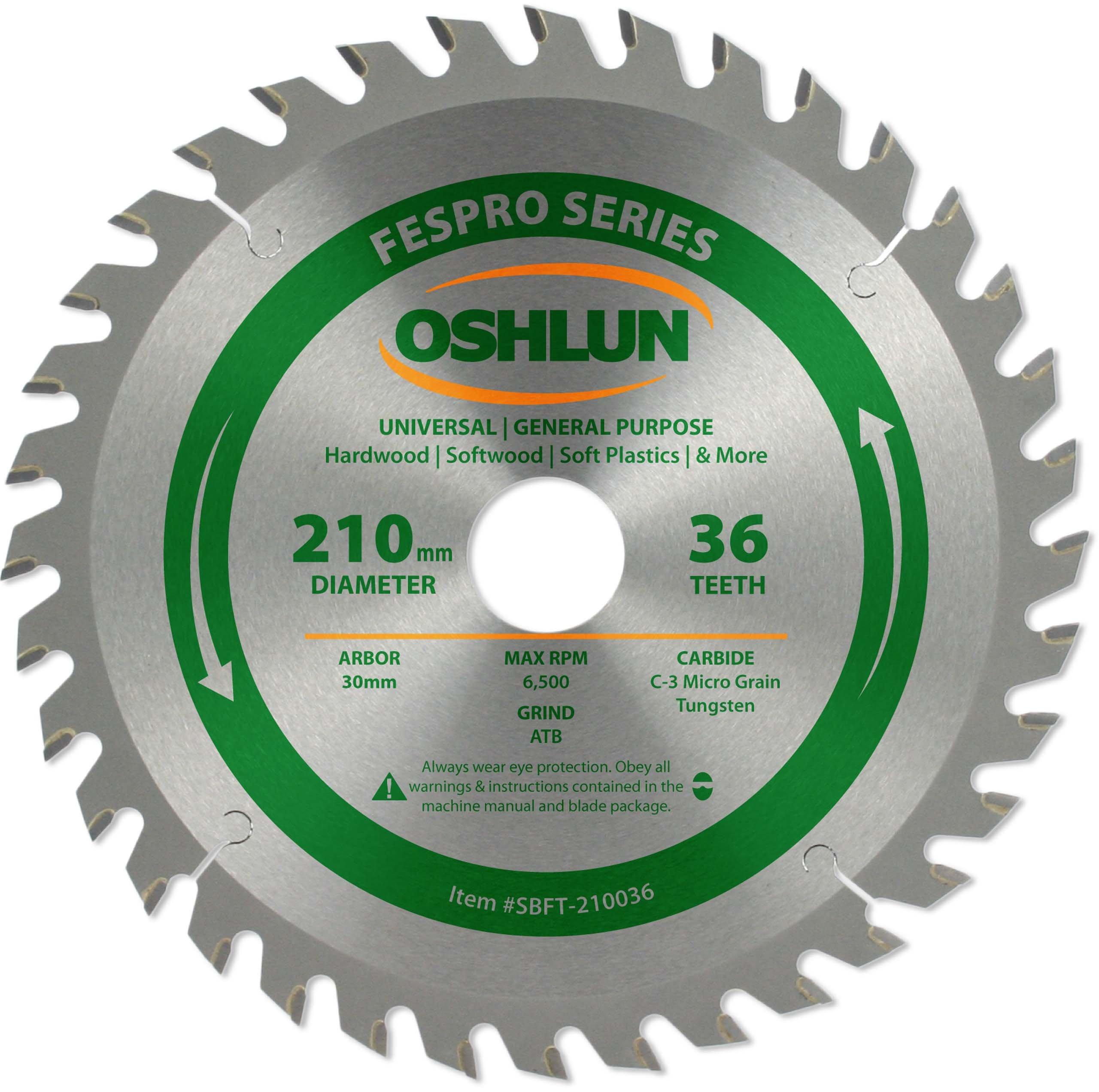 Disco Sierra OSHLUN SBFT 210036 ATB de uso general FesPro