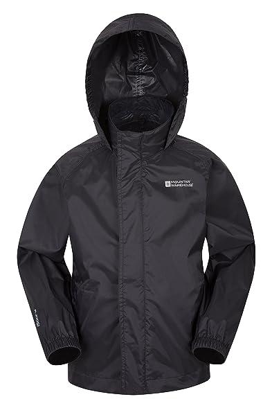 Mountain Warehouse Pakka Kids Waterproof Jacket with Hood and ...