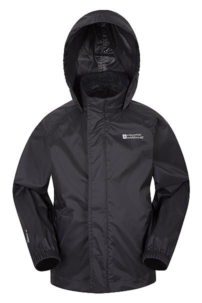 29c71da0c Mountain Warehouse Pakka Kids Waterproof Jacket - 2 Pockets ...