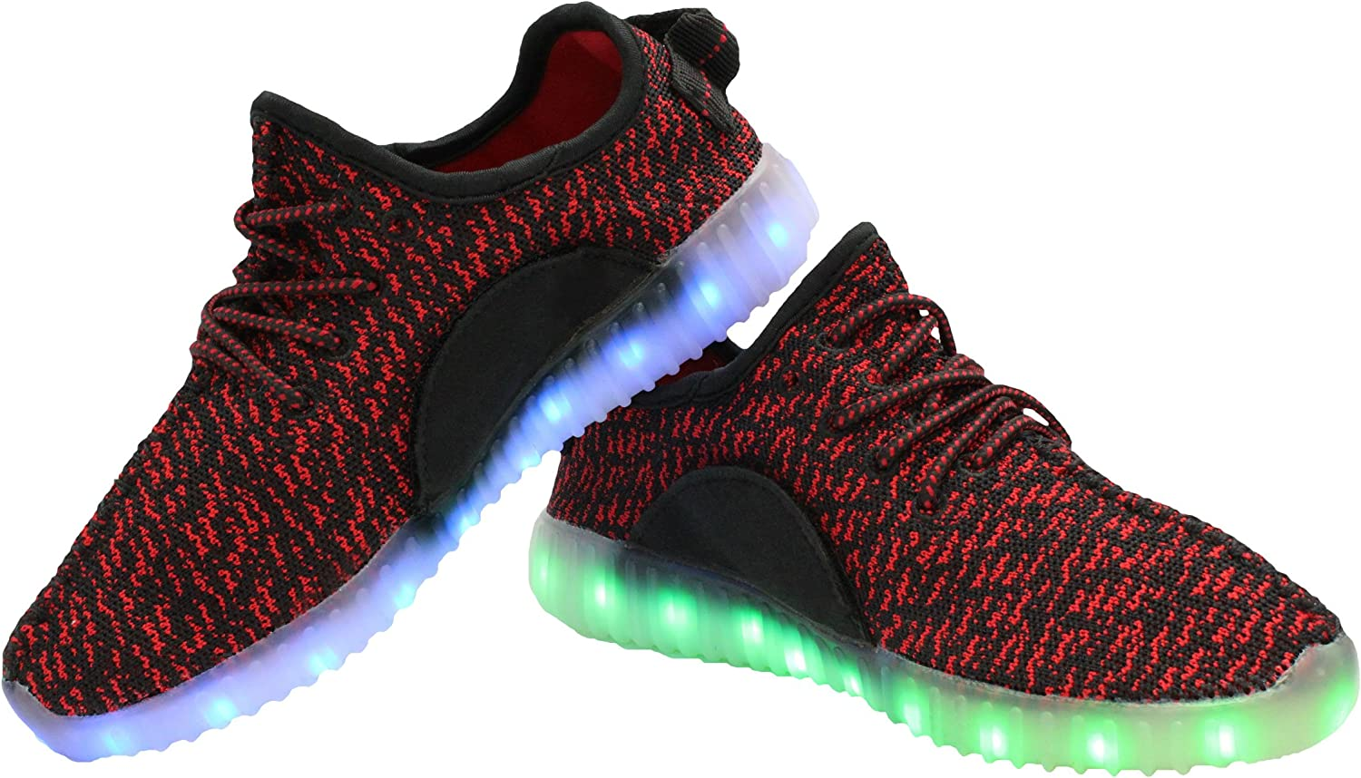 Transformania Toys Galaxy LED Shoes Light Up USB Charging Low Top Knit Light Up Sneakers